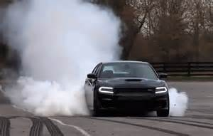 dodge srt hellcat challenger and charger burnout
