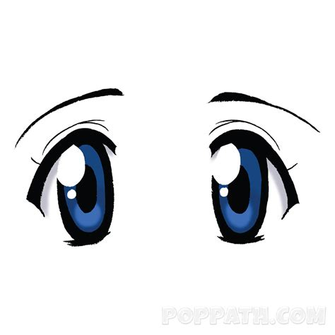anime eyes how to draw anime eyes style 15 pop path