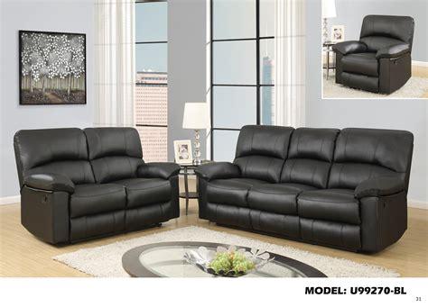 sofa pu u99270 black pu reclining sofa by global furniture