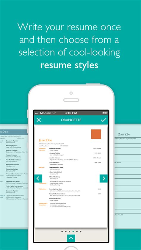resume designer app on behance