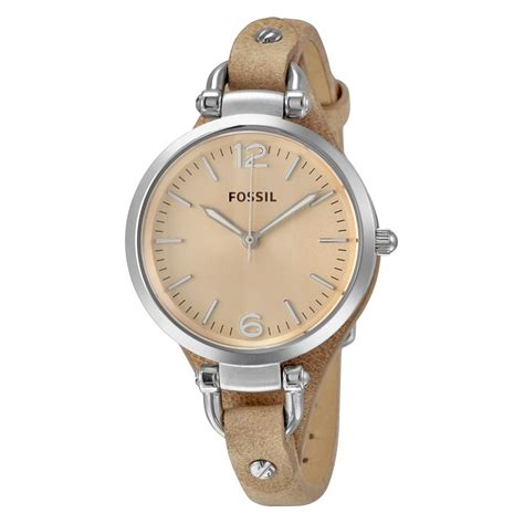 Fossil Geoegia Leather fossil beige sand leather