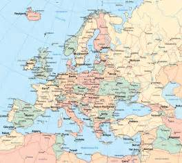 European Cities Map by Europe Map Region Country Map Of World Region City