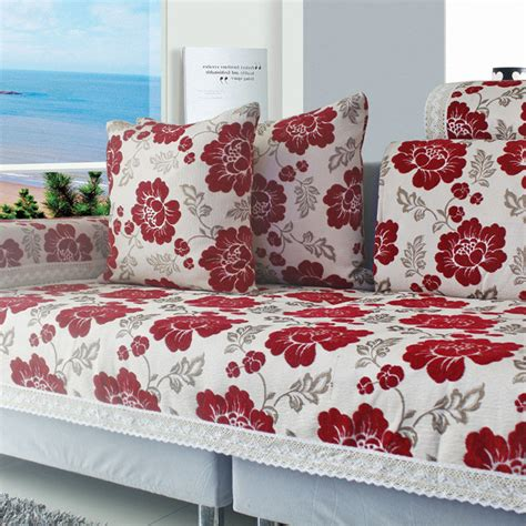 stretch sofa cushion covers jacquard cover canape chenille sectional couch covers