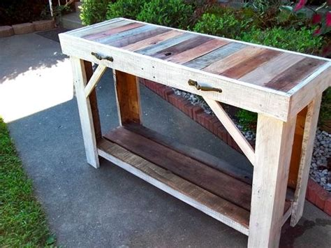 reclaimed wood entry table buy a handmade rustic reclaimed pallet entry table made