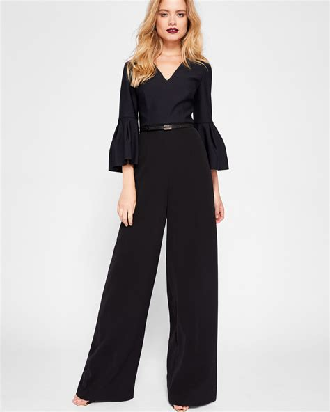 Jump Suit ted baker sleeve jumpsuit black bluewater 163 79 00