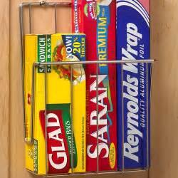 Cabinet Door Kitchen Wrap Organizer Mounted Kitchen Wrap Organizer Chrome In Food Wrap Holders