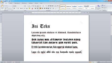 Bermain Kata Dan Gambar Pakai Ms Word 2007 1 yuzu s