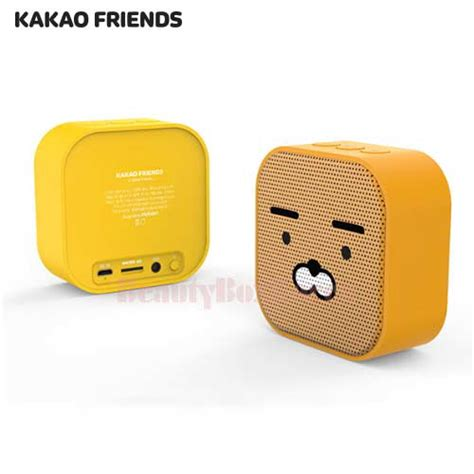 Peaker Bluetooth Best Frend box korea kakao friends square bluetooth speaker 130g best price and fast shipping