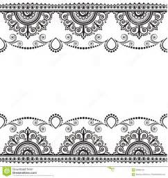 indian mehndi henna line lace element with flowers
