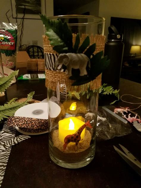 best 25 jungle centerpieces ideas on safari