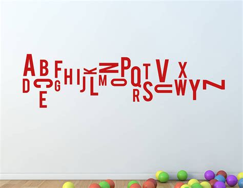 alphabet stickers for walls jumbled alphabet wall sticker contemporary wall stickers
