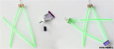 stelle fluorescenti soffitto come creare stelle fluorescenti con braccialetti luminosi