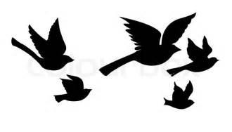Flying Blackbird Outline by Vektor Silhouette Fliegende V 246 Gel Auf Wei 223 Em Hintergrund Stock Vektor Colourbox