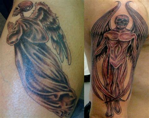 angel tattoo for couples couple tattoo images designs