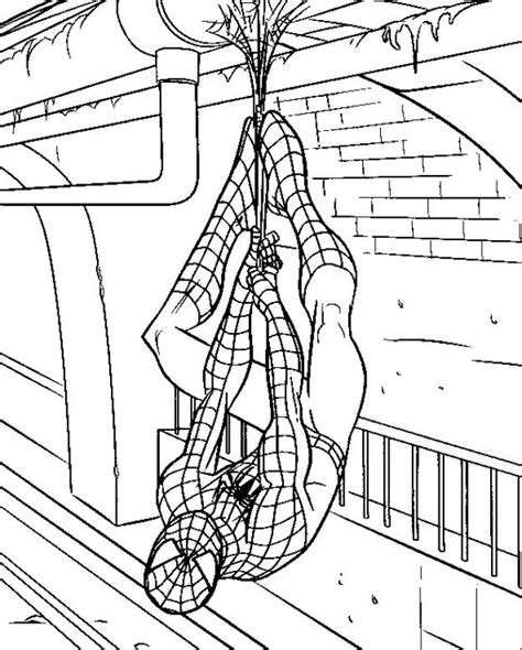 spiderman head coloring page spiderman hanging head down coloring pages