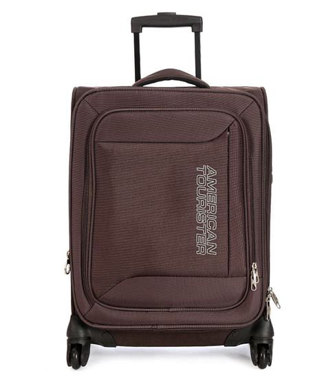 American Tourister Vanity Bag by American Tourister Brown Polyester 4 Wheel Trolly Bag Buy American Tourister Brown Polyester 4