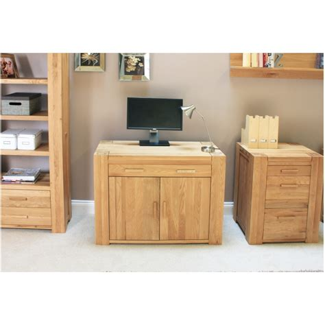 Atlas Solid Chunky Oak Furniture Hidden Home Office Pc Hideaway Desks Home Office