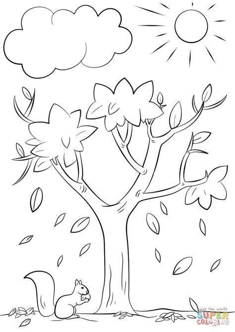 Autumn Tree Coloring Page Free Printable Coloring Pages Fall Tree Coloring Page