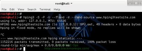 hping3 tutorial kali linux denial of service attack dos using hping3 with spoofed
