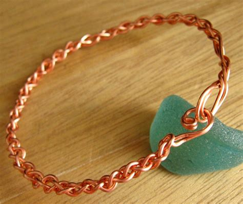 how to make copper jewelry braided copper bangle tutorial annemade jewelry