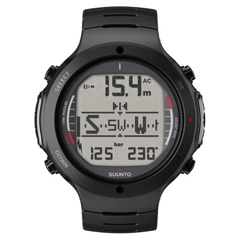 suunto dive watches suunto d6i all black steel dive features in rugged steel