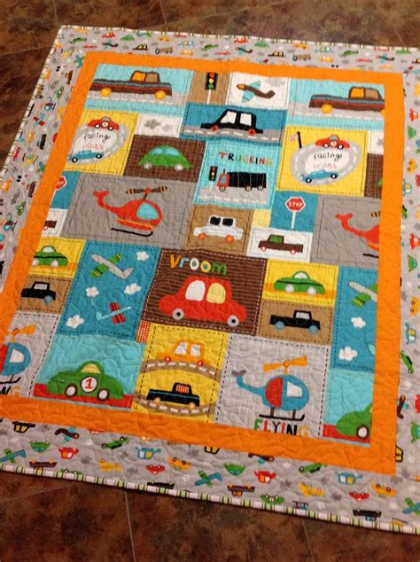 Baby Boys Quilts by Baby Boy Crib Quilt Vroom 2 Cars Trucks Blue