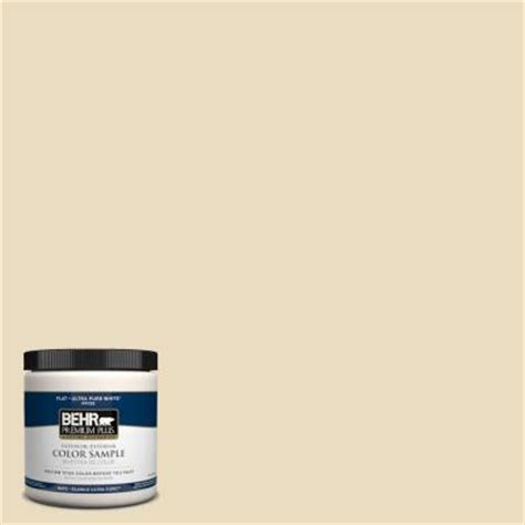 behr premium plus 8 oz 1822 navajo white interior exterior paint sle 1822pp the home depot