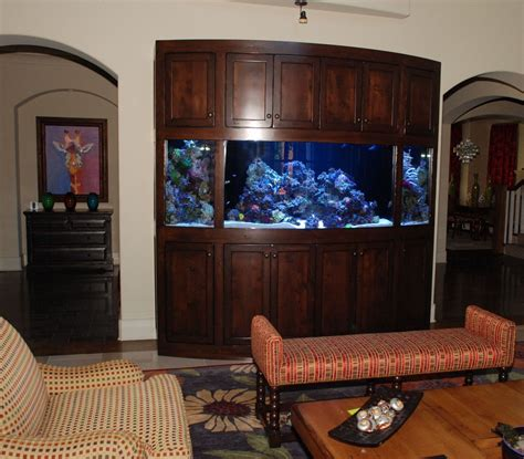 Small Entertainment Cabinet Custom Rustic Radius Aquarium Stand Cabinet Unit By Belak
