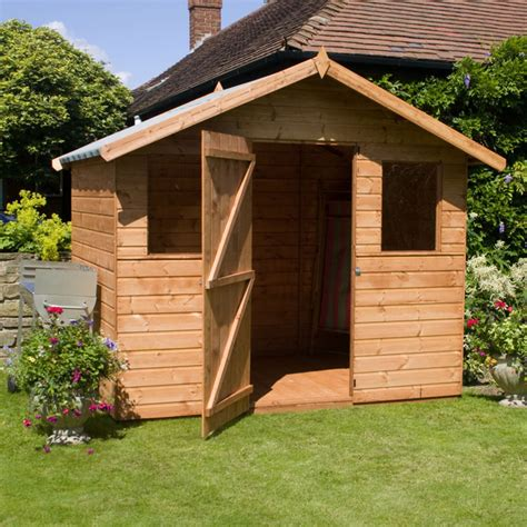 Garden Shed Windows by 6 X 8 Waltons Tongue And Groove Apex Garden Shed With