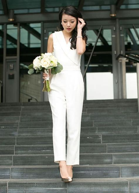 Wedding Dress Jumpsuit by Gorgeous Bridal Jumpsuits That Ll Convince You To Skip The
