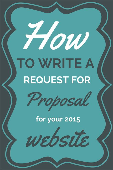 writing a website rfp request for template accrinet