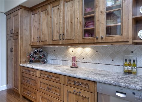 kitchen cabinets knotty alder rustic knotty alder kitchen with stain and glaze finish by
