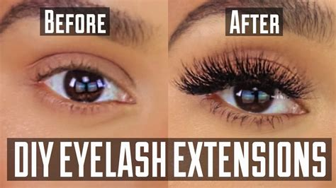 diy permanent at home eyelash extension application doovi