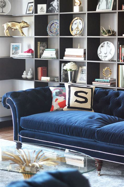 navy blue velvet sofa how to decorate around a blue velvet sofa