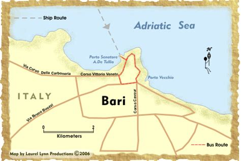 map of italy bari venice and the eastern mediterranean bari
