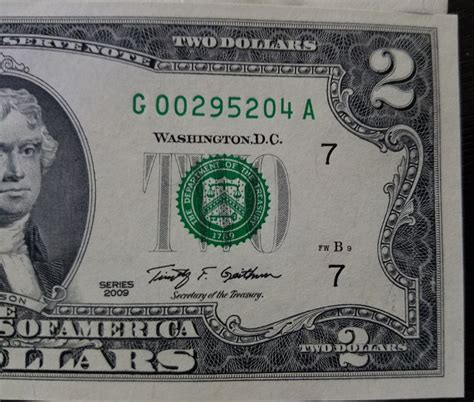 new year us dollar bill 2 two dollar bill 2009 2013 year mint crisp us currency