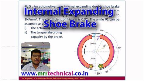 design of machine elements youtube design of machine elements internal expanding shoe brake