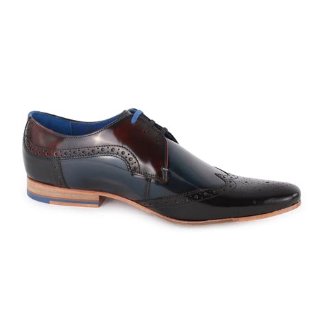ted baker shoes ted baker hanmix mens leather brogues black blue new shoes