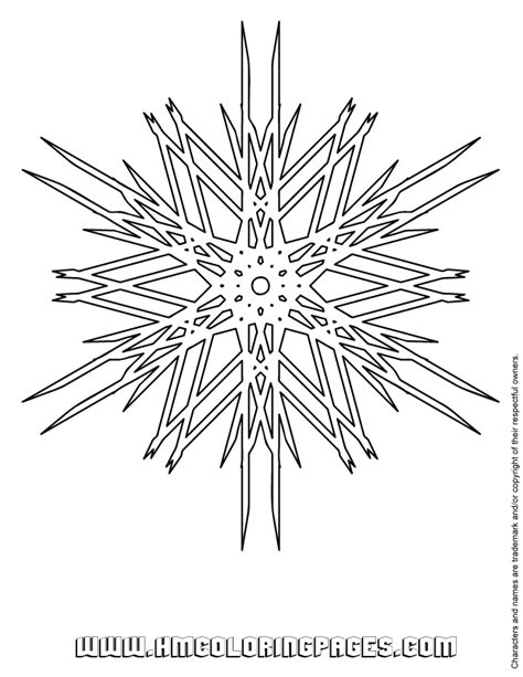 advanced snowflake coloring pages difficult snowflake coloring page h m coloring pages