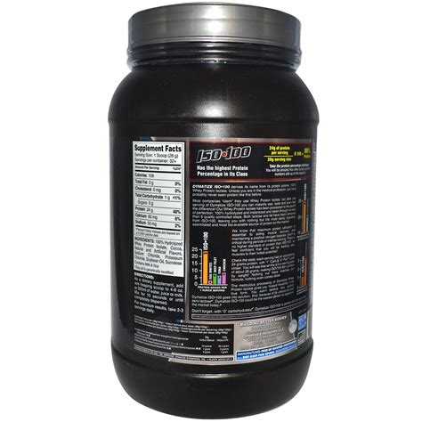 Dymatize Whey Protein Isolate dymatize nutrition iso 100 100 hydrolyzed whey protein isolate gourmet chocolate 2 lbs 910