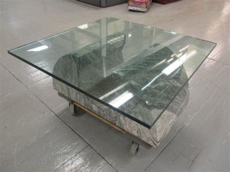 pre cut made glass table z17 pre owned granite coffee table w glass top