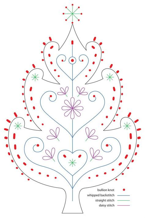 217 best christmas tree embroidery images on pinterest