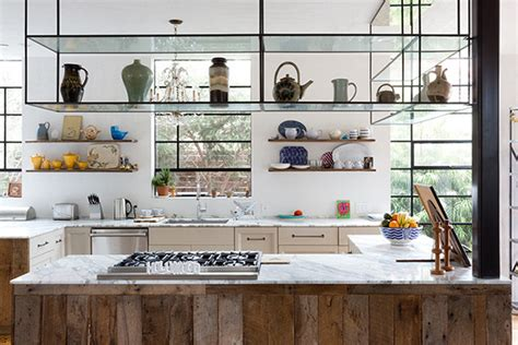 cool kitchen ideas suspended shelves cool kitchen ideas lonny