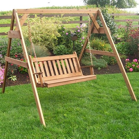 porch swing company a l furniture co traditional english swing and stand set