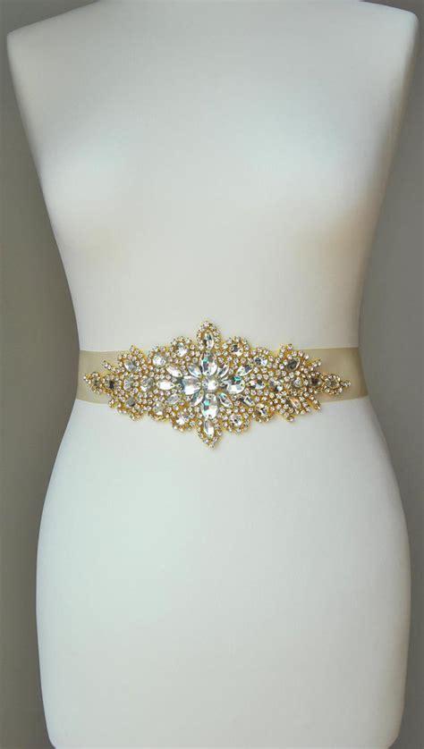luxury gold bridal sashwedding dress sash belt