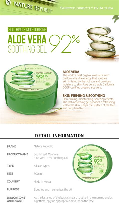 Nature Republic Soothing Gel buy nature republic aloe vera 92 soothing gel at
