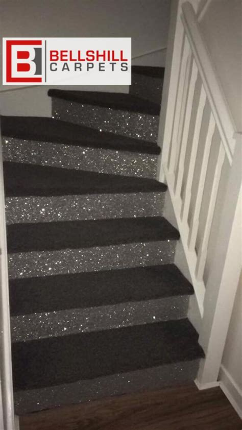 glitter wallpaper on stairs stairs for my new addition stairs for my new addition