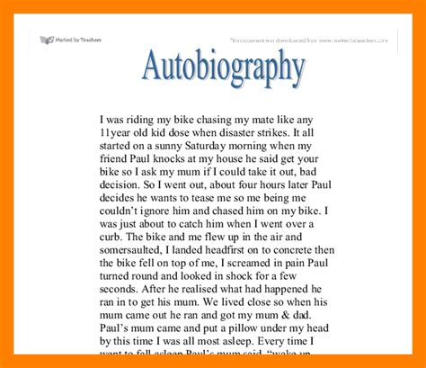 biography exles for books 6 autobiography exle of students bike friendly windsor