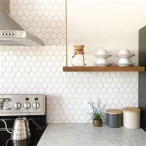 White Kitchen Backsplash Tile top 25 best hexagon tiles ideas on pinterest
