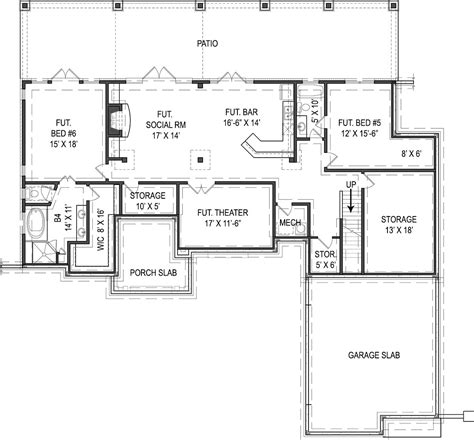 cottage house plans with basement nice design ideas 1 story house plans with basement one